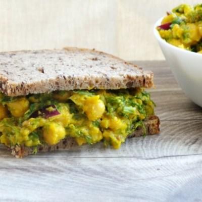 Chickpea Salad For Sandwiches With A Secret Ingredient, Vegan, Gluten-Free