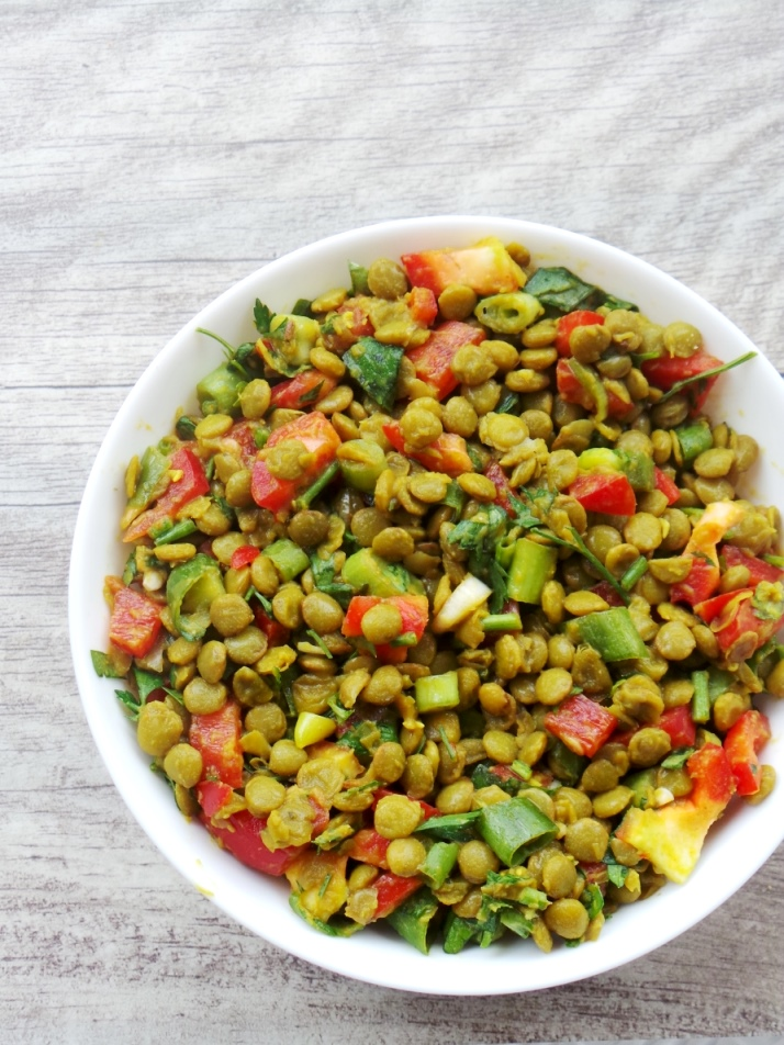 Beauty Bites - spicy lentil salad