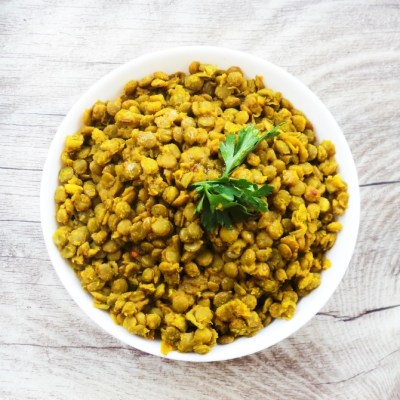 Basic Spicy Turmeric Lentils For Salads and Wraps