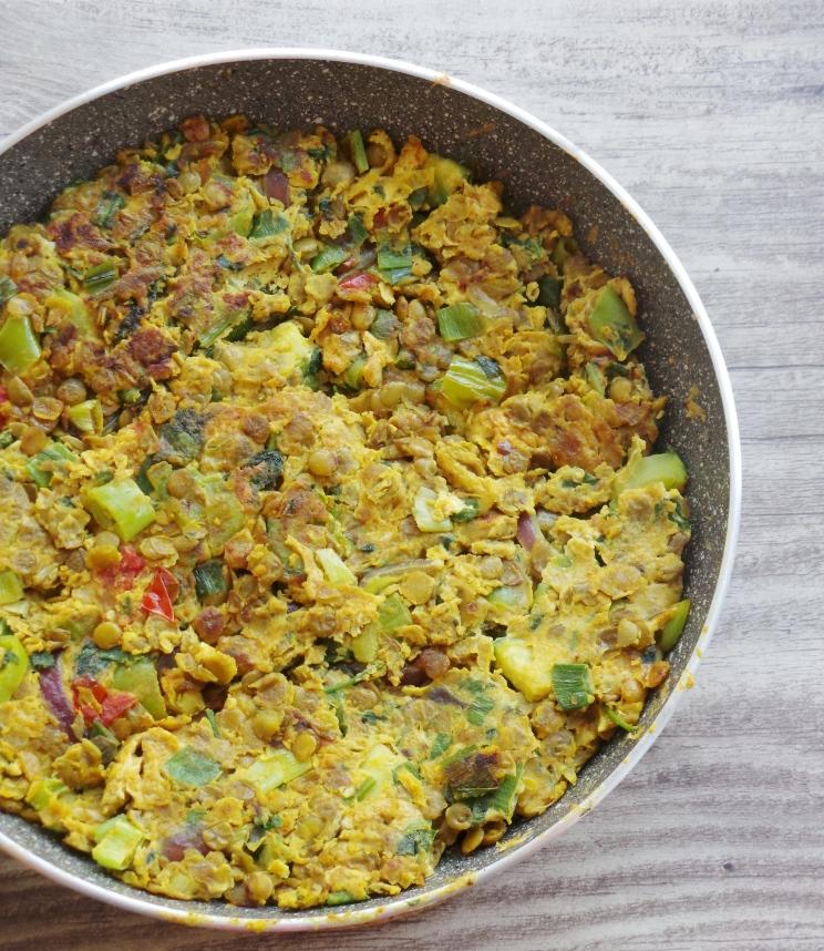 Turmeric lentil omelette - Tortilla Ibelina