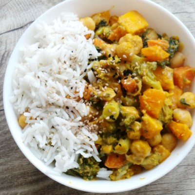 Chickpea and Pumpkin Curry – Vegan, Gluten-Free