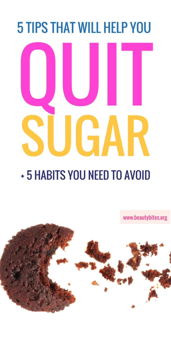 Doing a little sugar detox (fruit allowed), here's what helped and what didn't help me with quitting sugar! | how to quit sugar | www.beautybites.org/quitting-sugar-works-doesnt-week-1/ | sugar addiction