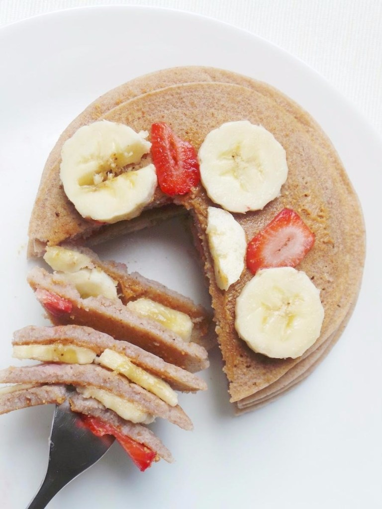 These vegan and gluten-free buckwheat pancakes are proof that you can make tasty fluffy pancakes without any gluten, eggs or milk! Even if that milk is dairy-free. All you need is 5 ingredients and a pan. The only fancy ingredient is buckwheat flour. If you have that, I'm pretty sure you've got everything else at home to mix these.