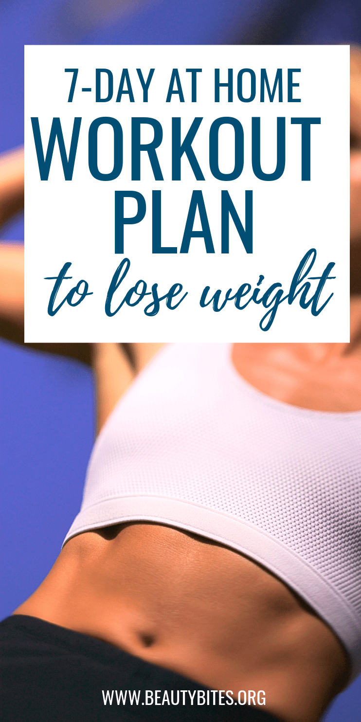 7-Day workout plan to lose weight and get toned while having fun! This plan includes dance workouts, barre and pilates routines + a yoga stretch routine! You can do this entire exercise routine at home - great if you want to make exercise a daily habit and don't have a gym membership.
