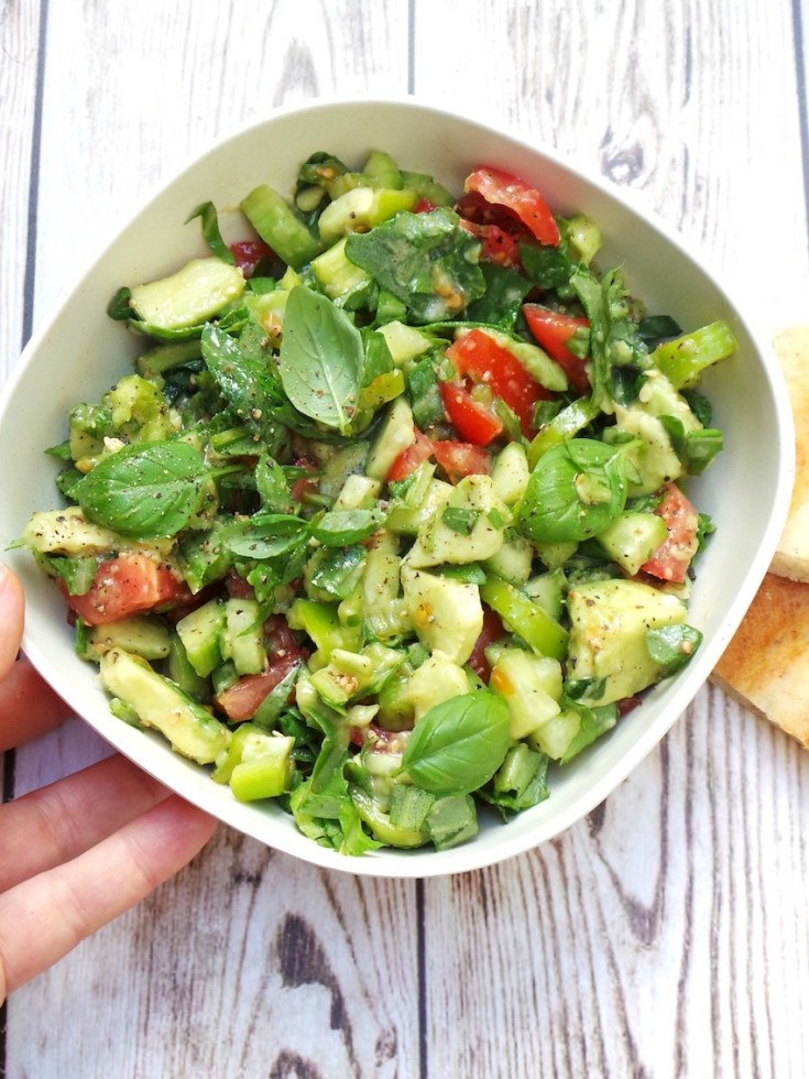 Tomato, Arugula and Avocado Salad