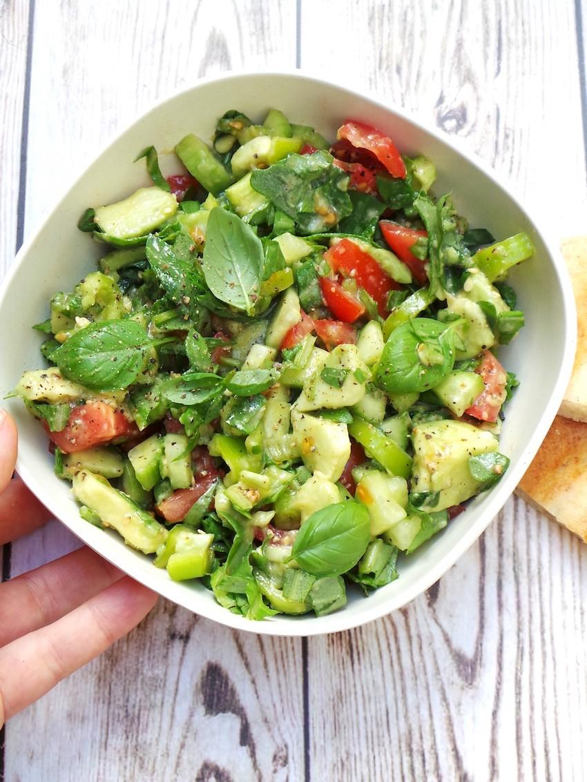 Tomato Avocado And Arugula Salad Beauty Bites