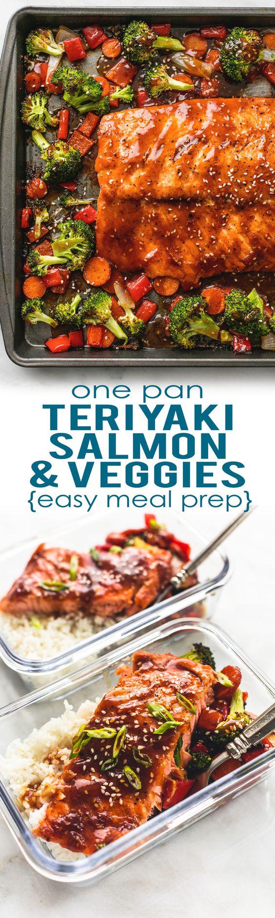 e Pan Baked Teriyaki Salmon and Vegetables by Creme de la Crumb