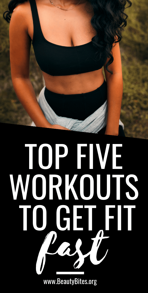 Top five free workouts for women to get in shape fast! When you do these 4-5 times a week you'll lose fat, gain muscle and feel great, because these at home workouts are that good and they're free!