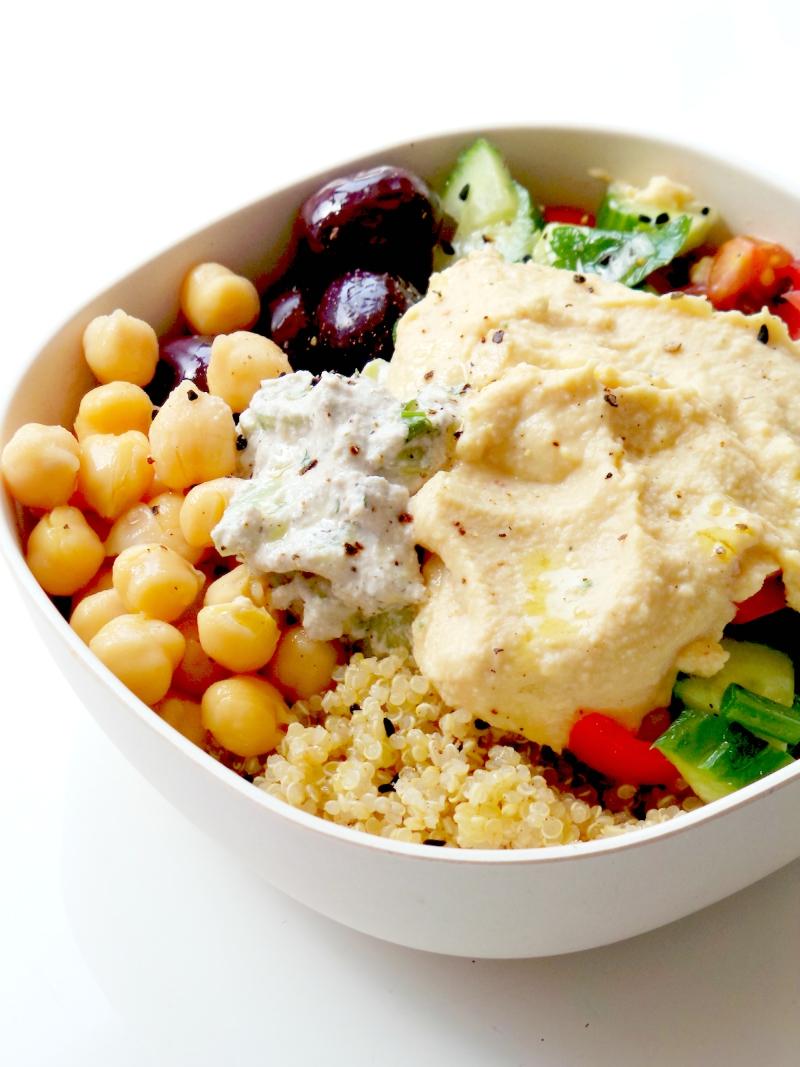 5-Minute Mediterranean Bowl – Healthy Lunch Meal Prep Recipe
