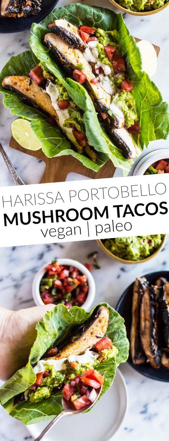 Healthy Low Carb Vegan Mushroom Tacos!