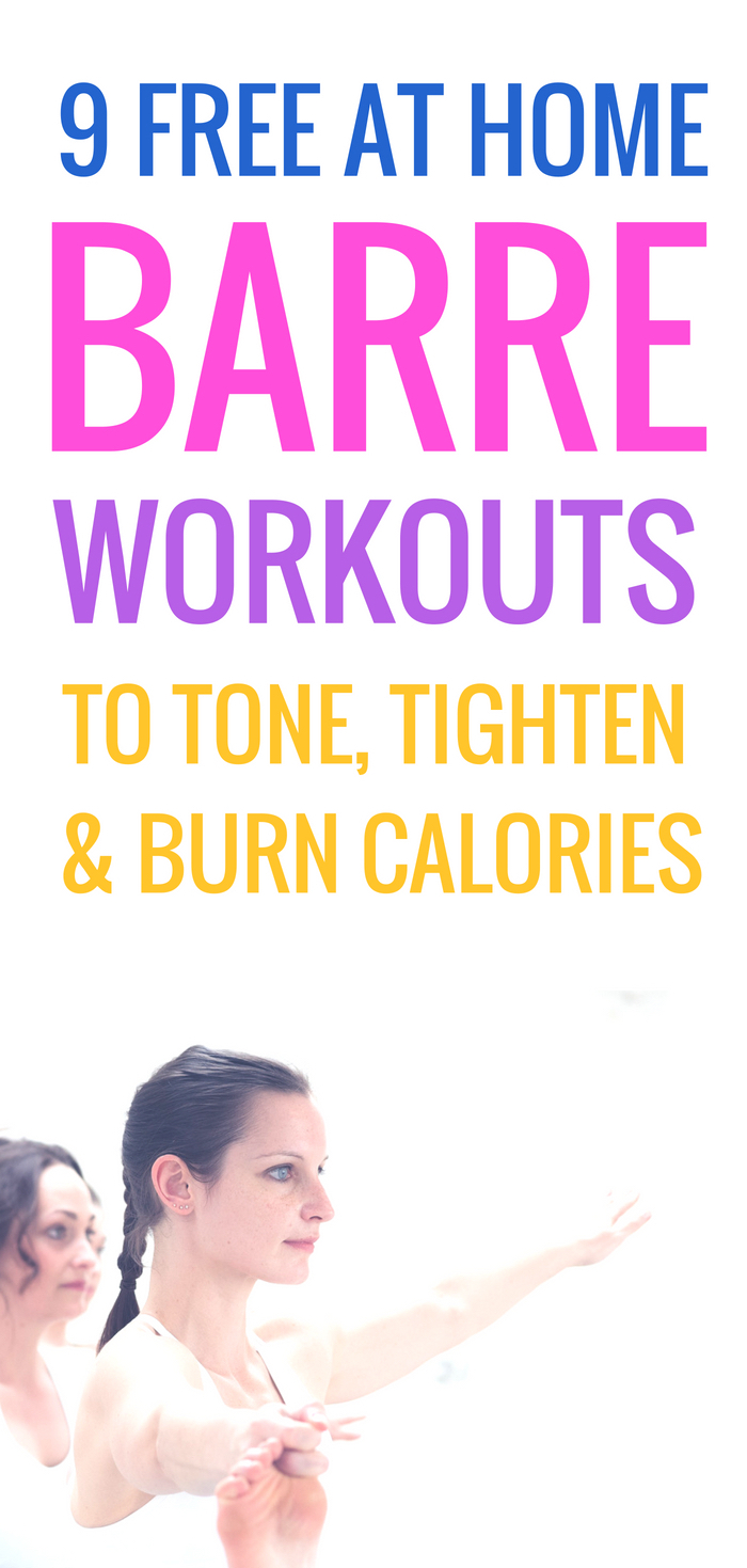 9 free barre workouts to tone, tighten and burn calories! Make exercise fun & try these barre exercises a few times a week! You'll tone your abs, arms, butt, legs. These exercise routines make it easy to turn exercise into a habit and to stick to a workout plan! | www.beautybites.org
