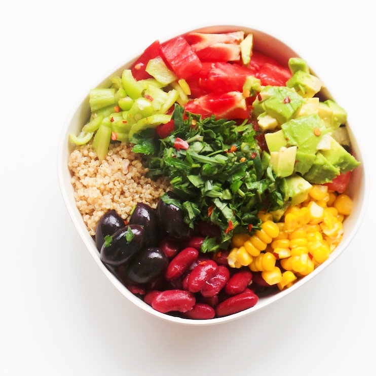 Bean, Avocado And Quinoa Salad Bowl – Meal Prep Option