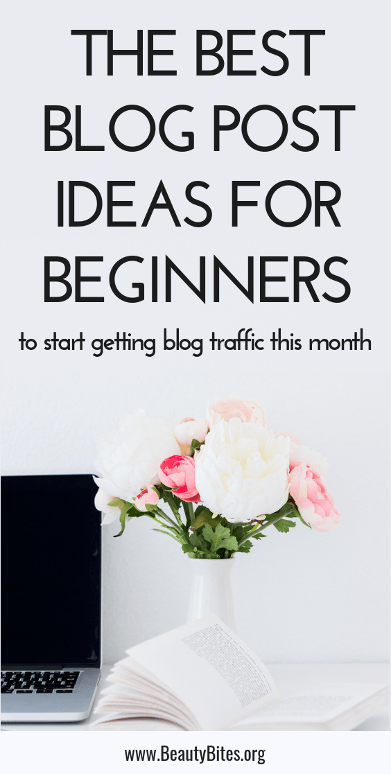 How to write your first blog post plus 12 blog post ideas to grow your blog traffic, so you can start to make money with your blog! These blogging tips are great for beginners and beyond - they'll help you start writing amazing content that gets shares and likes on social media! #blogging #bloggingtips #blog
