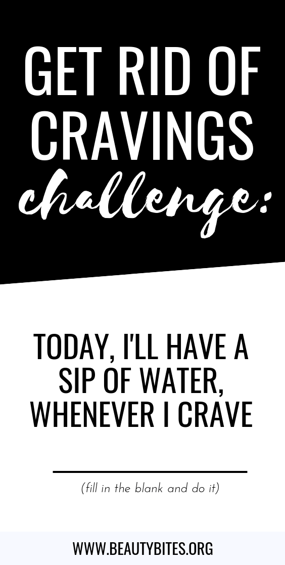 get rid of cravings challenge! This healthy habit makes a HUGE difference! Stop overeating and start eating healthy every day with this tiny, tiny change!