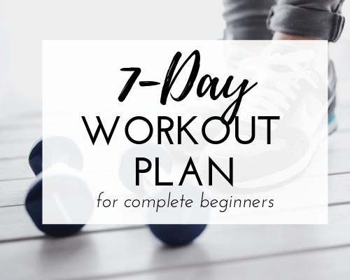7-Day workout plan for complete beginners