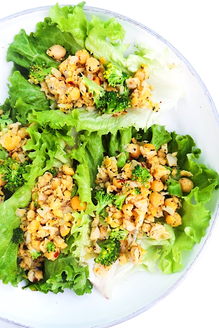 10-Minute Chickpea Scramble Lettuce Wraps | Vegan & Gluten-Free