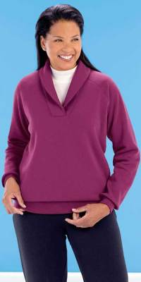 Shawl Collar Fleece Sweatshirt - Beauty Boutique - Online ...