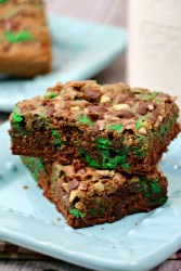 Mint Chocolate Swirled Brownies Recipe