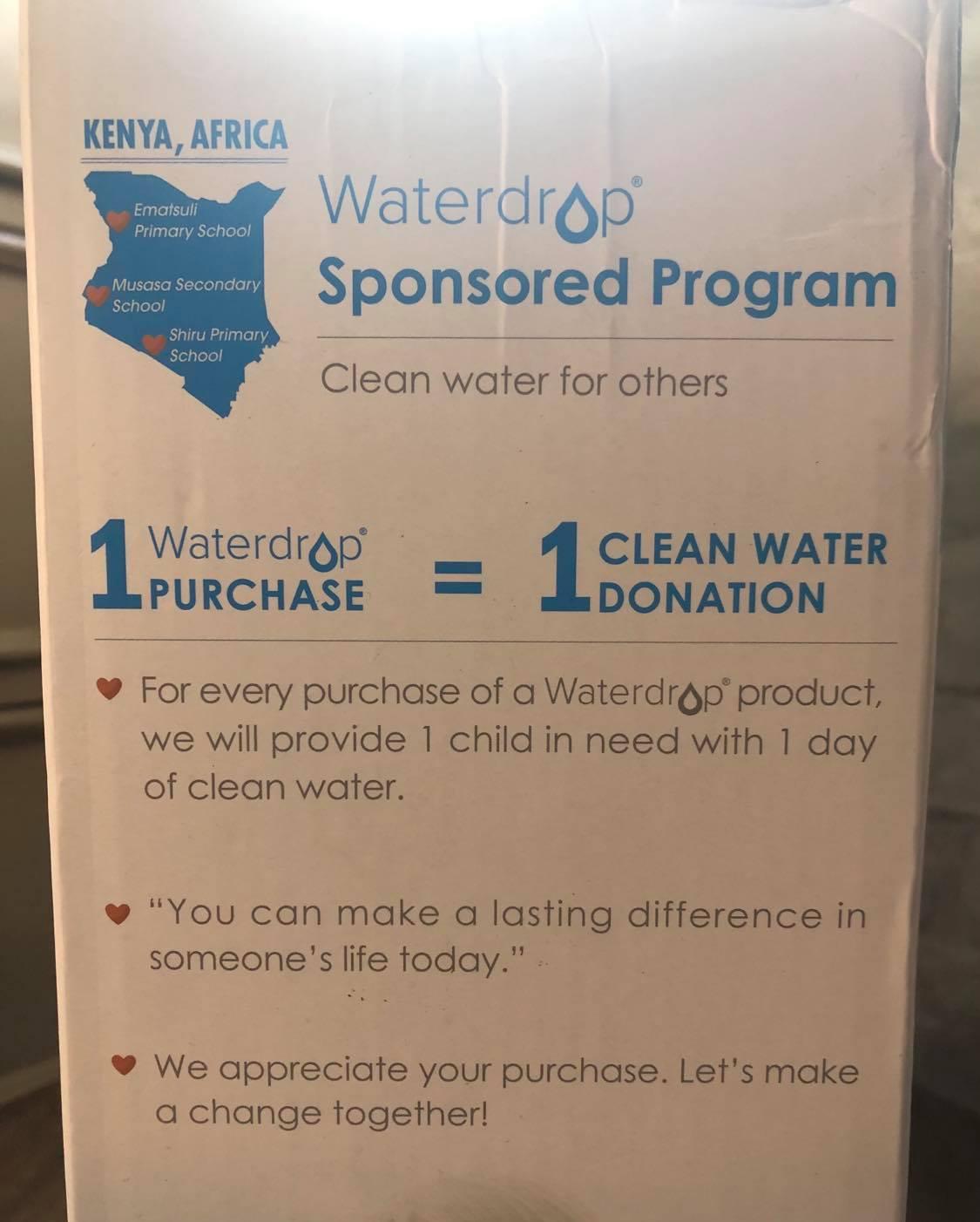 Waterdrop Sponsership