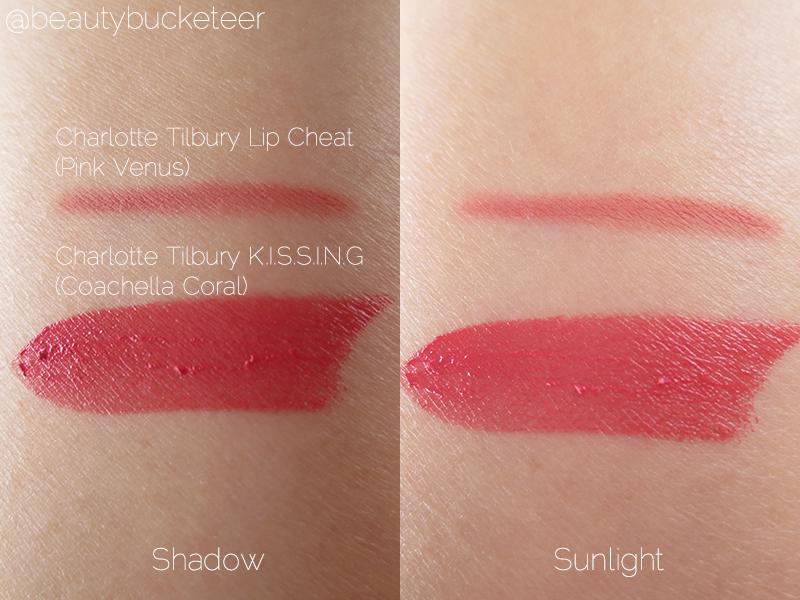 Charlotte Tilbury Coachella Coral Lipstick & Pink Venus Lip Pencil