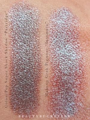 ColourPop Eyeshadows Swatch - Partridge vs MUG Insomnia