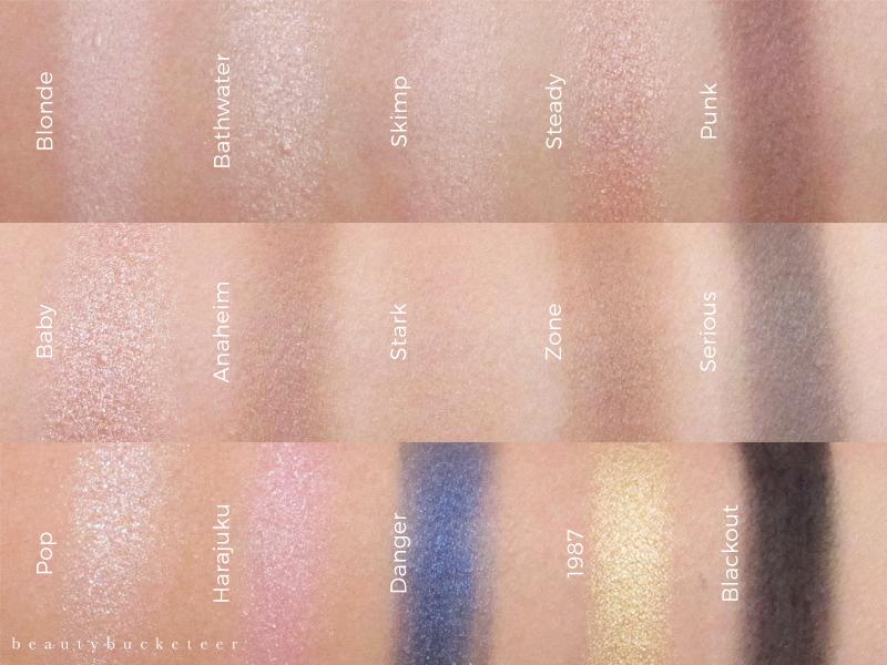 Urban Decay Gwen Stefani Eyeshadow Palette Swatches