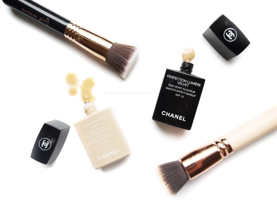 Chanel Vitalumiere Aqua vs Perfection Lumiere Velvet