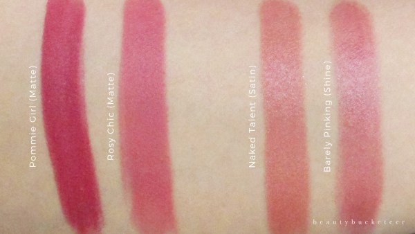 Soap and Glory Sexy Mother Pucker Lipsticks Swatches