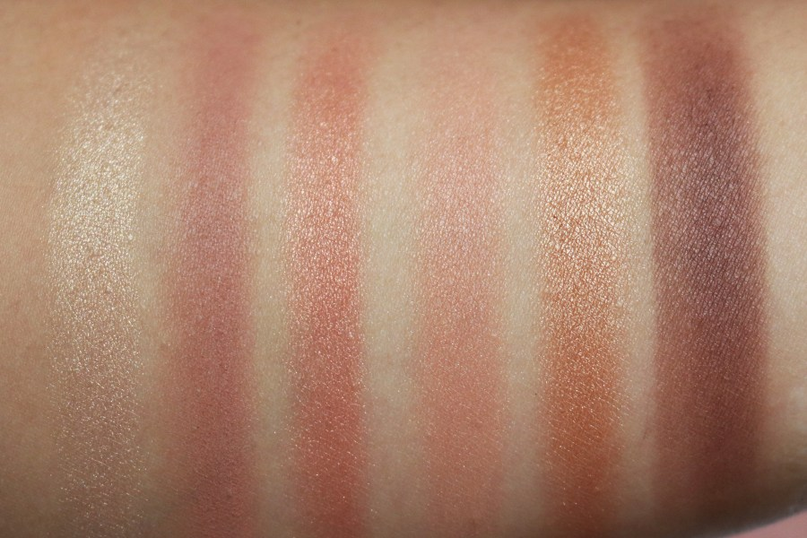 Maybelline Gigi Hadid West Coast Glow Palette Swatches