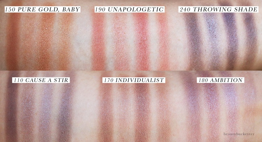 Almay Shadow Quad Swatches