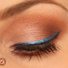 Electric blue liner makeup with Lorac Unzipped