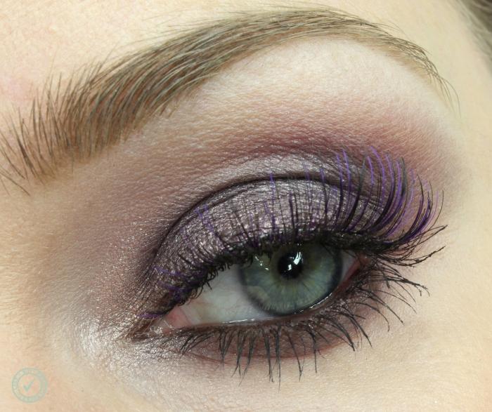 how to create purple smoky eyes makeup