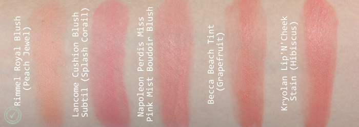 cream blush swatches
