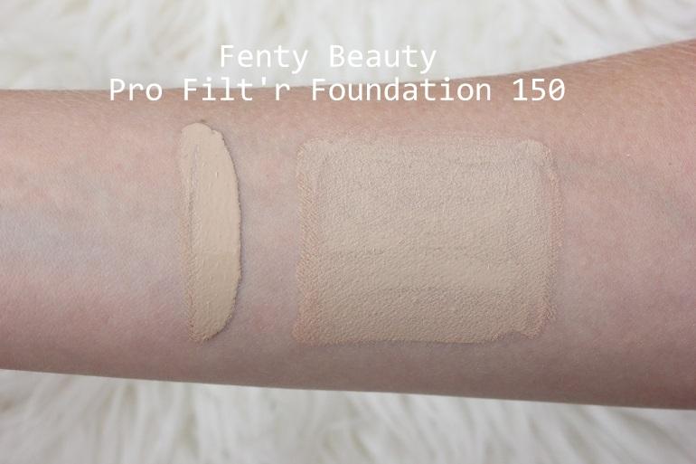 Fenty Beauty Pro Filt'r Foundation 150 swatch