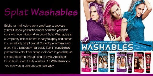 Hair Splat Color Washables