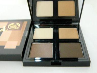 Gold eyeshadow-the-body-shop