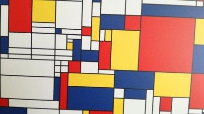wereldkaart dichtbij Mondriaan