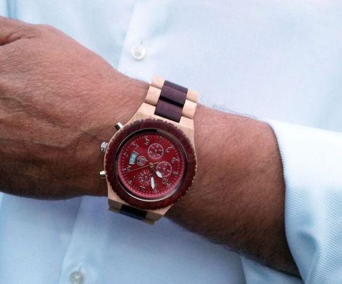 houten horloge timer rood