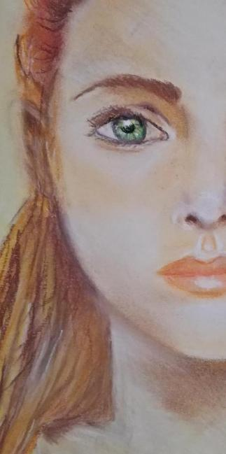 tekening pastelkrijt