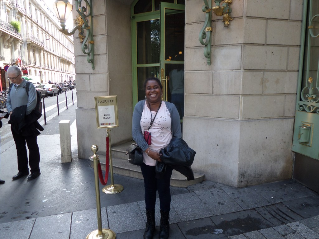 Outside Laduree <3