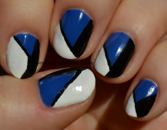tri color nails - beauty