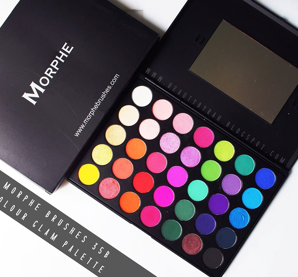 Morphe brushes 35B color glam palette review and swatches