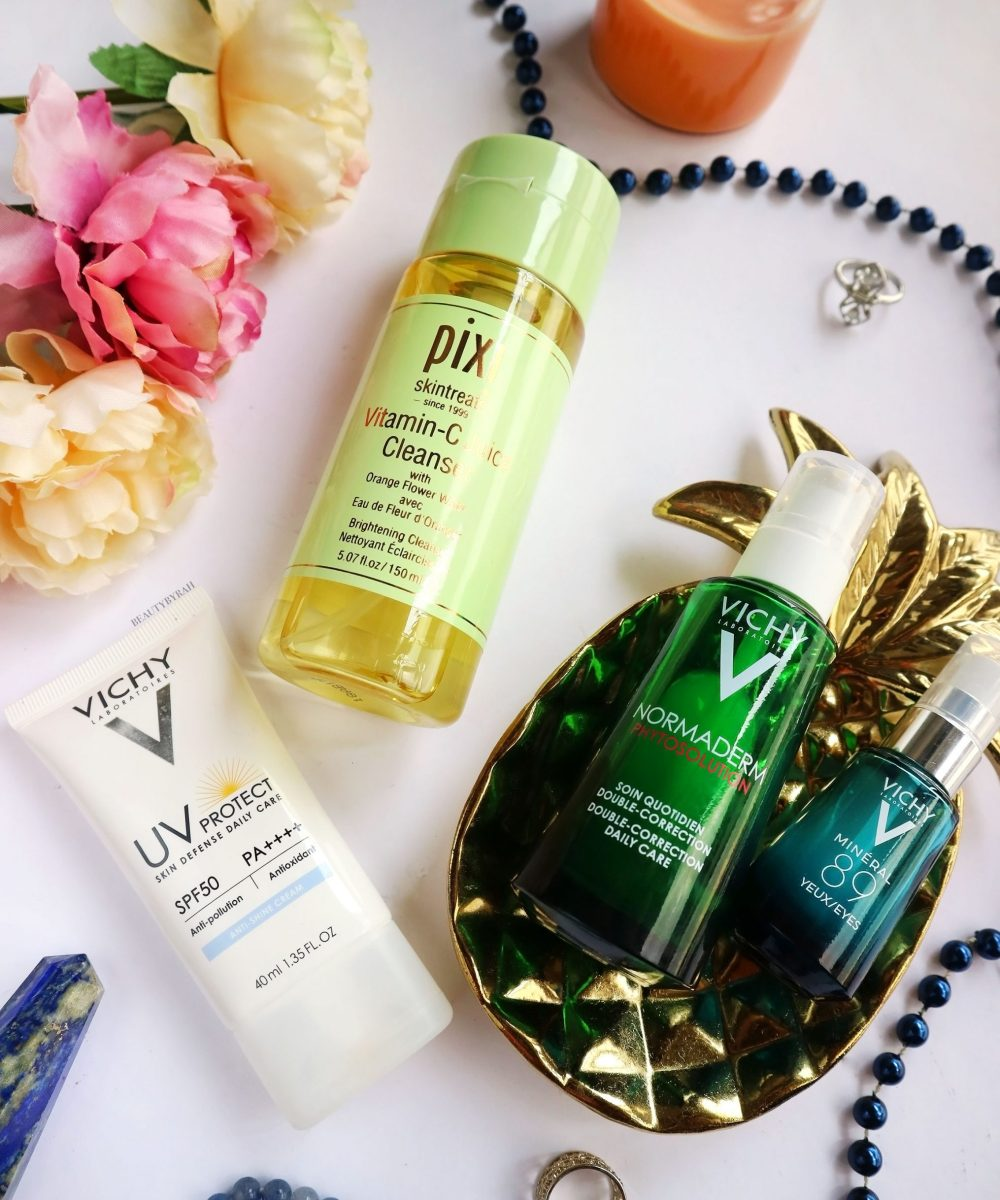 Vichy Normaderm Phytoderm and Pixi Vitamin C cleanser review