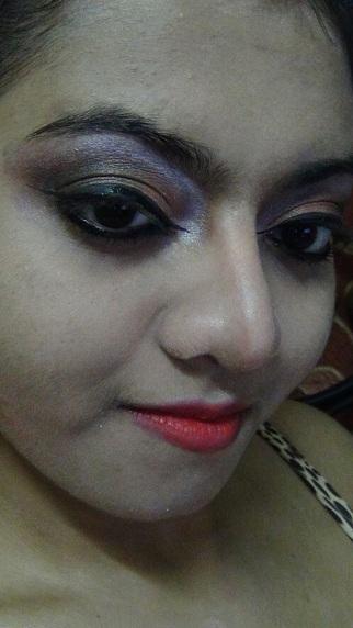 bronze and purple smokey eyes