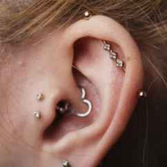 Different Ear Piercings Diagram Gfs Dream 180 Wiring Double Tragus Piercing - Jewelry, Bar, Ring And Pictures, Rings, Inverse ...