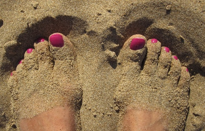 Feet in Sand Pixabay Image