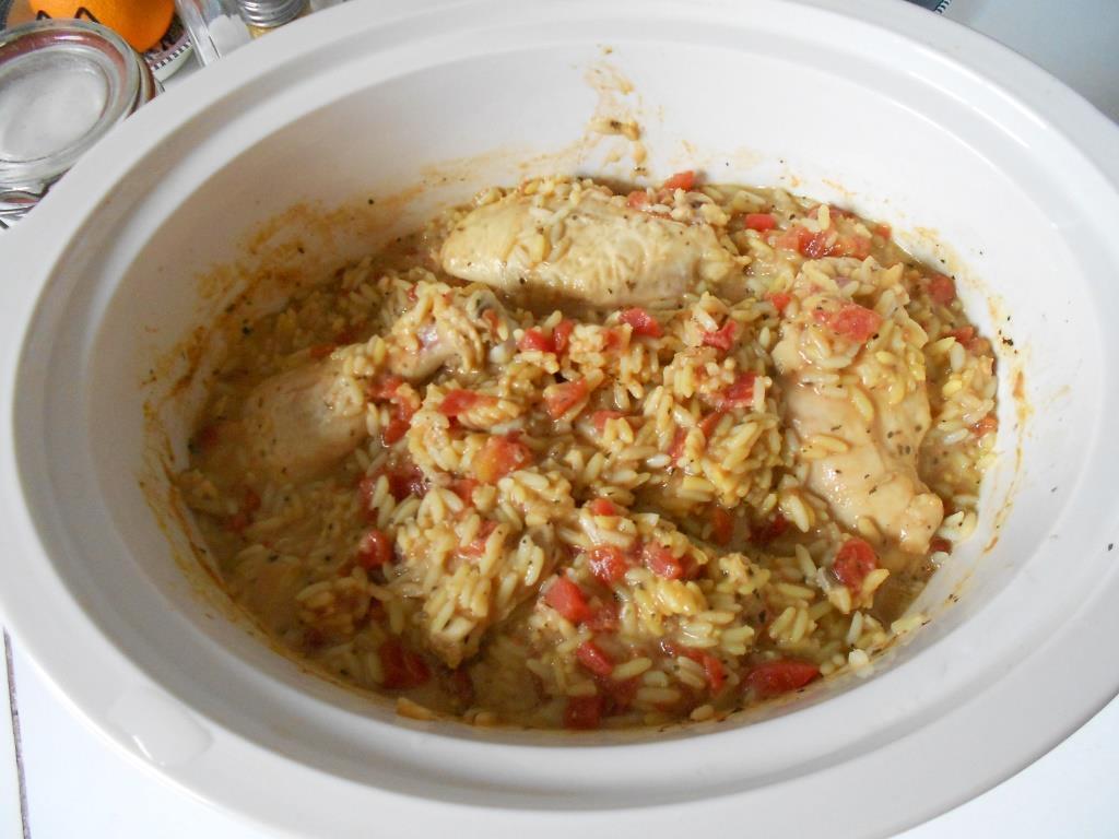Slow Cooker Spanish Chicken Rice Dinner
