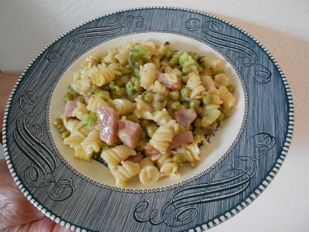 A Plate of Ham Casserole