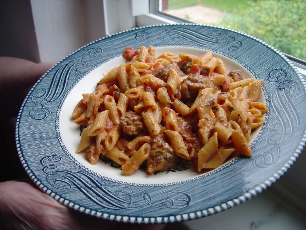 Sausage and Tomato-Cream Pasta