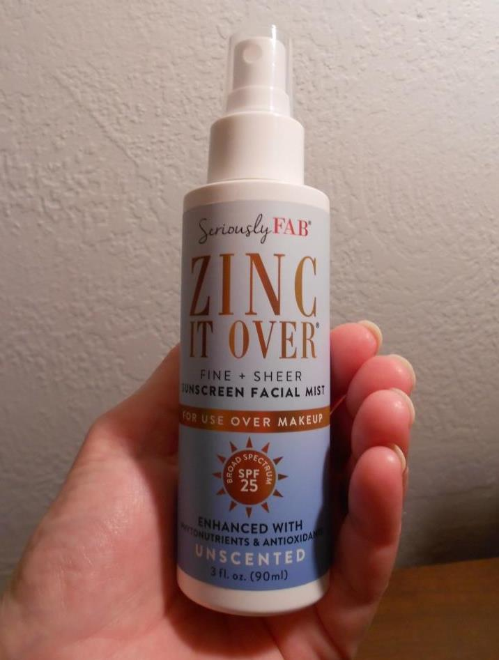 Seriously Fab Zinc It Over Sunscreen